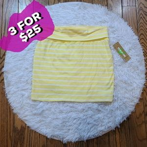 NWT Dream Out Loud Junior's Yellow Bodycon Skirt
